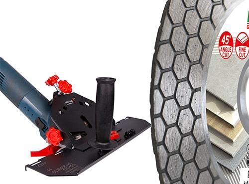 Насадка для УШМ Mechanic Air Slider и диск для заусовки керамогранита 45 Distar Edge Dry125